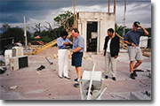 Rooftop of damaged American Embassy Dar es Salaam Tanzania