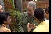 Belva, Fidel Castro,Congresswoman Barbara Lee in Havana Cuba