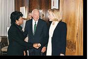 Belva, Walter Shorenstein,  Hillary Clinton