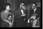 Belva, son Steven with legendary musican Ray Charles